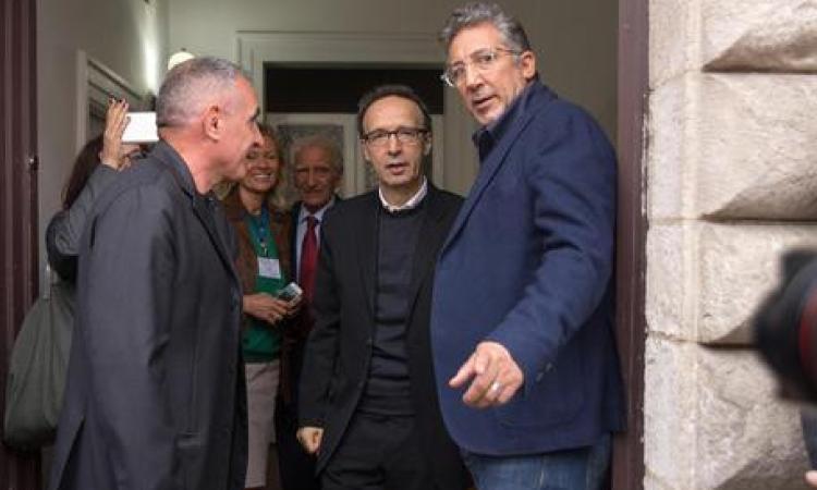 """Benigni ad Apiro: """"Mi piacerebbe tanto tornare in tv, teatro, al cinema"""""""