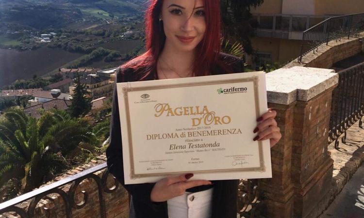 Pagella d'oro all'IIS Ricci di Macerata: congratulazioni Elena!
