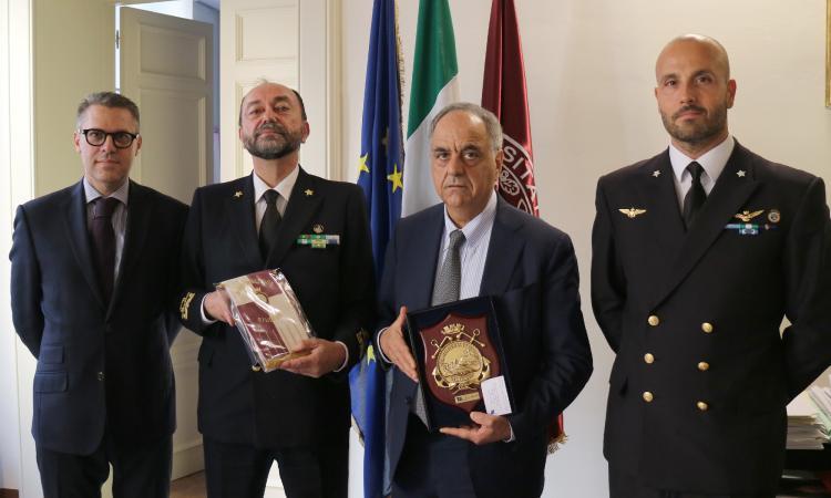 I vertici della Direzione Marittima delle Marche e del Porto di Civitanova in visita all'Unimc