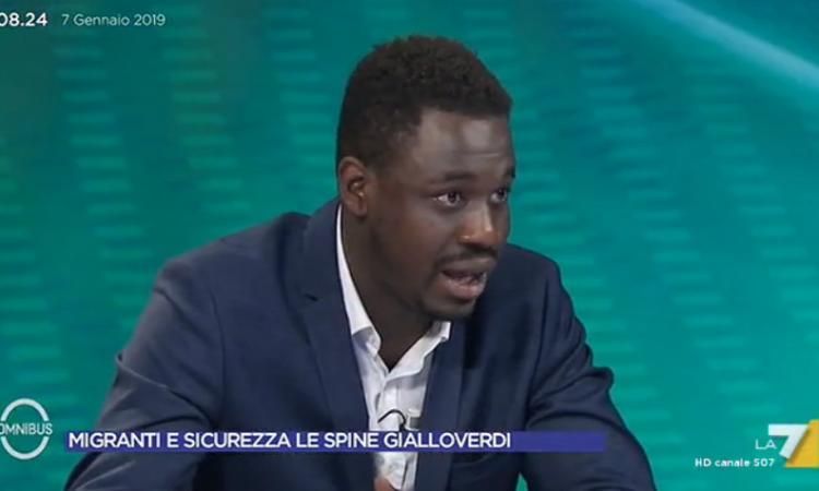 """Paolo Diop (FdI) interviene a La7: """"Non si può sempre accogliere, ora non c'è lavoro"""" (VIDEO)"""