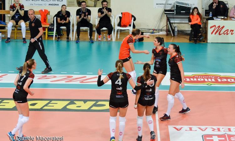 Volley femminile, la Roana HR Macerata chiude il girone d'andata contro San Giustino