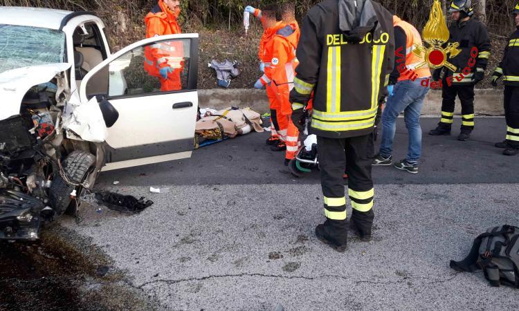 Grave incidente a Potenza Picena: un ferito trasportato in codice rosso a Torrette (FOTO)