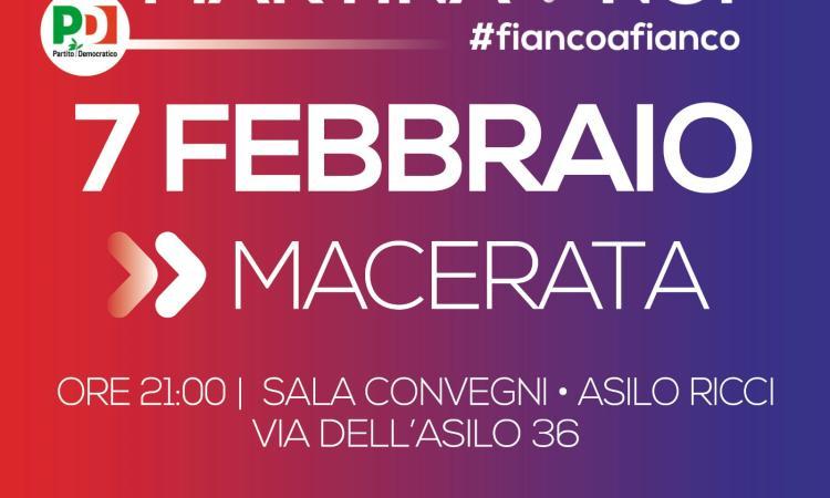Giovedì 7 febbraio arriva a Macerata il Segretario del PD Maurizio Martina
