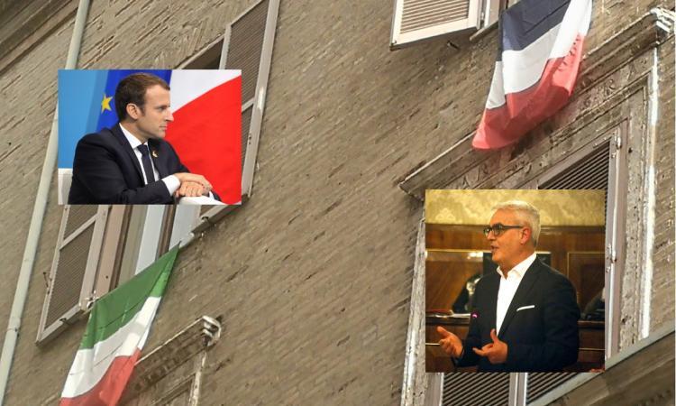 Violazione della legge? La polemica sulla bandiera francese esposta da Carancini a Macerata