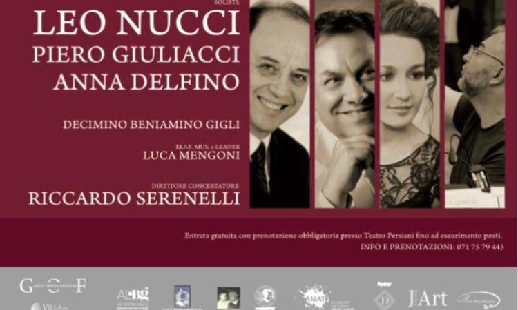 Recanati, Leo Nucci sul palco del Persiani per rendere omaggio a Beniamino Gigli