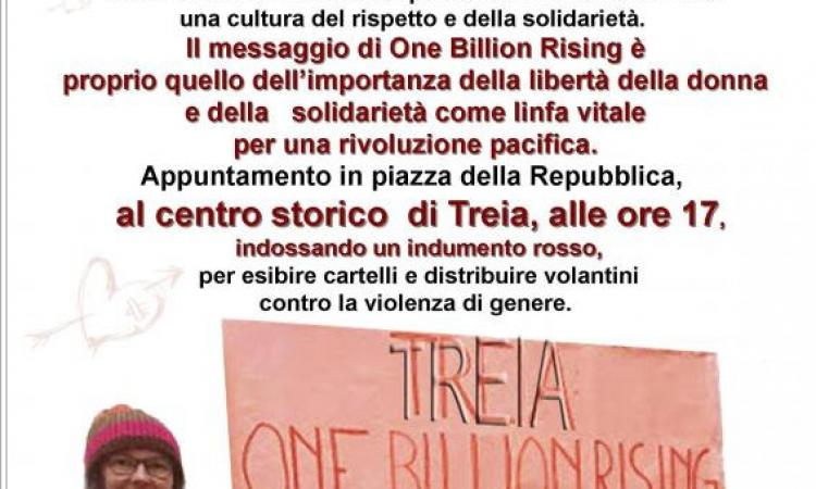 """Lotta alla violenza di genere a Treia: giovedì 14 """"One Billion Rising"""""""