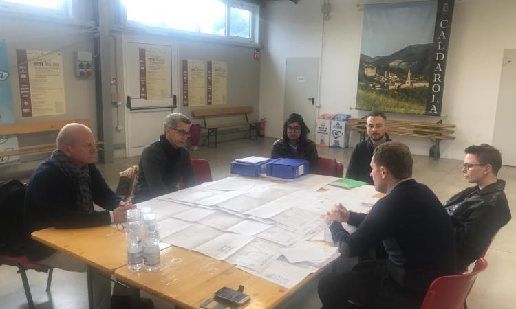 Visita ispettiva ieri a Caldarola per la realizzazione del nuovo Municipio