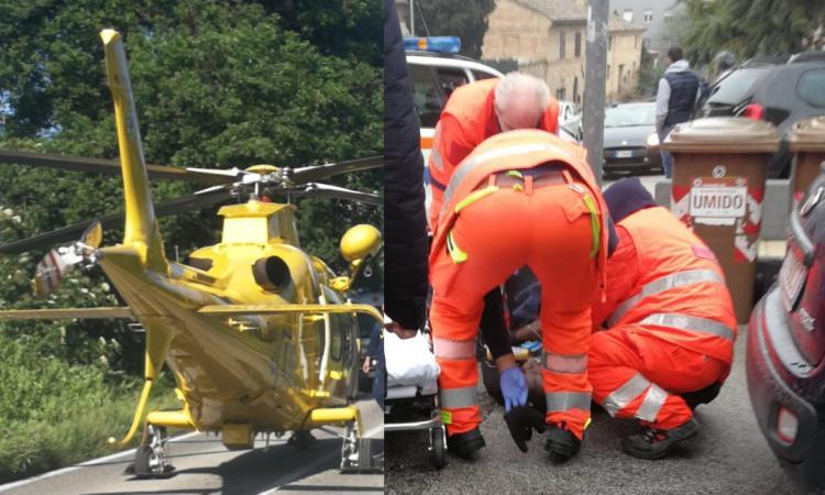 Macerata, cade dal terrazzo da un'altezza di 9 metri: donna trasportata a Torrette in codice rosso