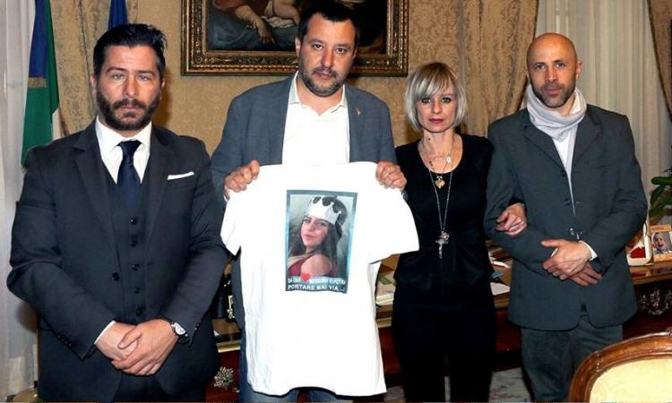 """I genitori di Pamela incontrano Salvini. Il Ministro: """"Chi ha commesso un delitto così orrendo deve marcire in prigione"""""""