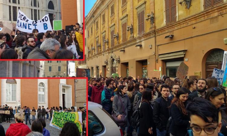 Macerata, Marcia per il Clima nelle vie del centro: sciopero degli studenti (FOTO e VIDEO)