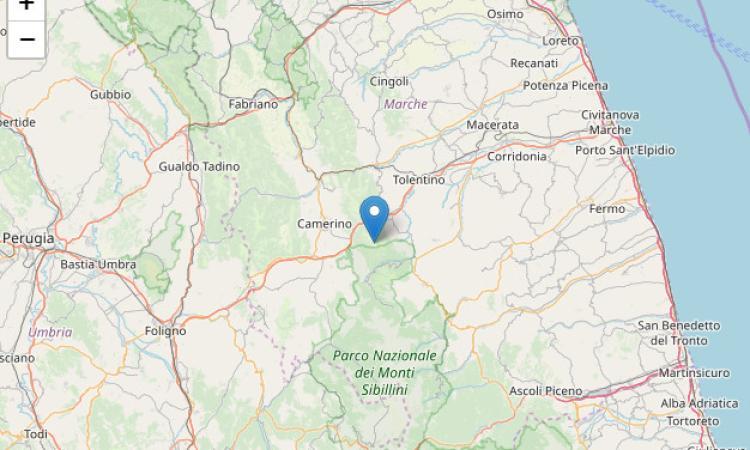 Scossa di terremoto di magnitudo 3.0 con epicentro Caldarola