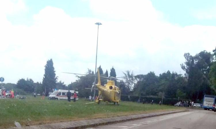 Cingoli, incidente al crossodromo: motociclista trasportato al Torrette