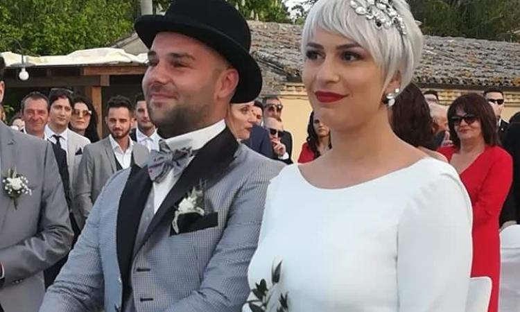 """Caldarola in festa per il """"sì"""" di Alessandro e Martina (FOTO)"""