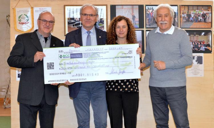 A Colmurano la solidarietà è di casa: donati oltre 3mila euro alla Società Operaia