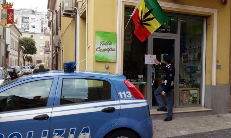 """Civitanova, il questore Pignataro chiude altri due negozi di """"cannabis light"""" (VIDEO)"""