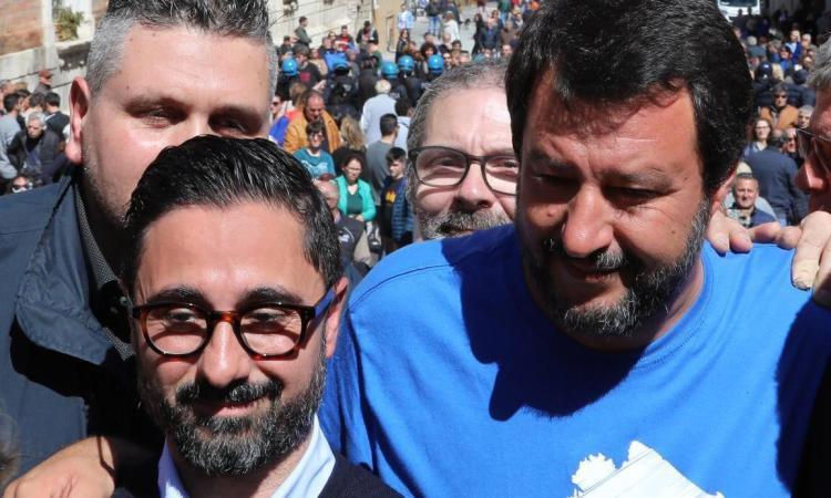 Recanati, amministrative 2019: Simone Simonacci riceve il sostegno di Matteo Salvini (FOTO)