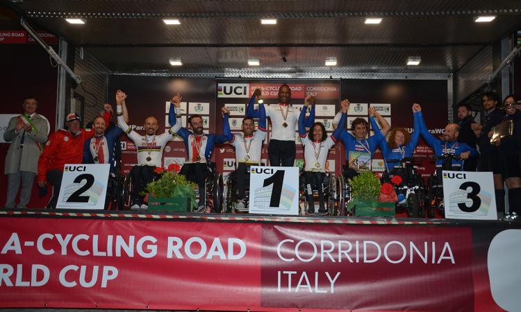 Corridonia, record di pubblico per la Coppa del Mondo di ciclismo paralimpico