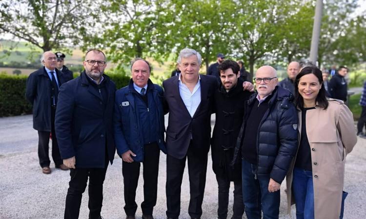 Tajani in visita alla Pars di Corridonia e presso la sede di Confartigianato (FOTO)