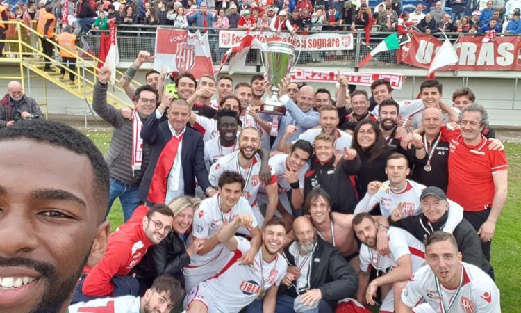Serie D, primo trofeo nazionale per il Matelica: i biancorossi alzano la Coppa Italia (VIDEO)