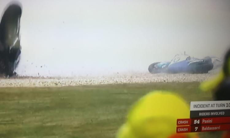 Moto 2, GP di Francia: Lorenzo Baldassarri cade al terzo giro, è in ospedale