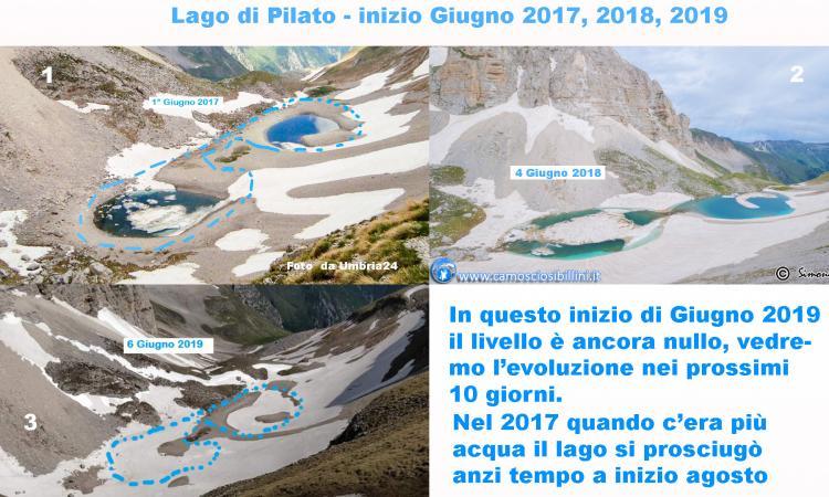 Monti Sibillini, il Lago di Pilato non si è ancora stranamente formato