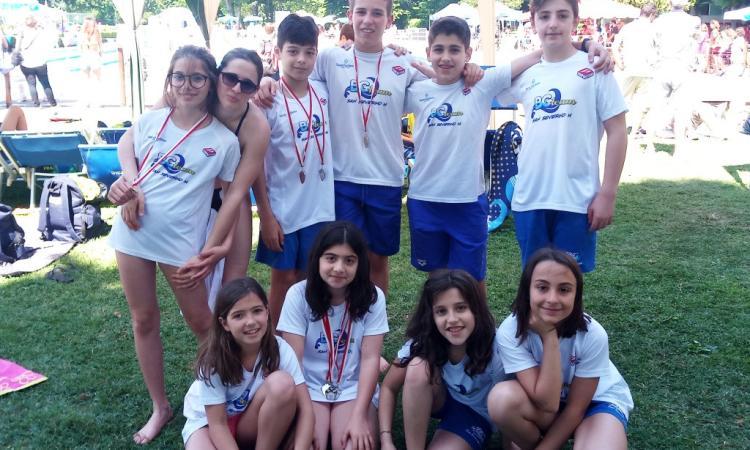 Nuoto, 39^ Trofeo «V. da Feltre» di Piacenza: 7 medaglie per il Blugallery Team San Severino