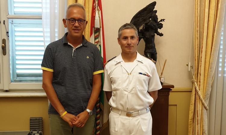 Civitanova, il sindaco Ciarapica incontra il neo Comandante della Capitaneria di Porto Gentilini