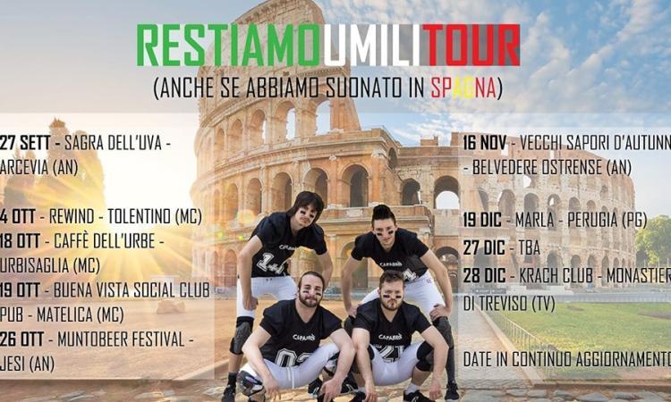 """""""Restiamo Umili"""": la band marchigiana Capabrò lancia il nuovo tour nazionale"""
