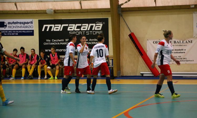 Calcio a 5, terza vittoria consecutiva per il Civitanova Dream Futsal