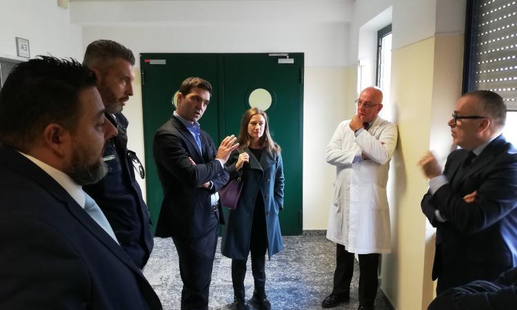 """Acquaroli e Leonardi in visita all'ospedale di Civitanova: """"Al lavoro sulle criticità"""""""