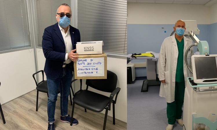 La generosità del sindaco Gentili e della Giessegi: donazioni agli Ospedali di Macerata e Civitanova
