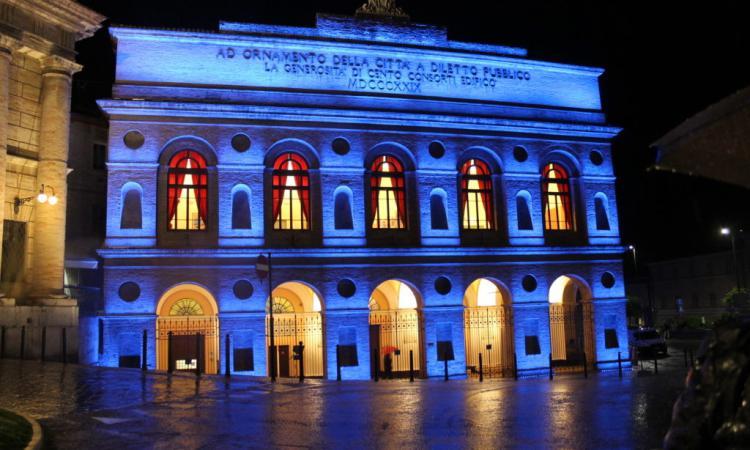 Giornata mondiale sull'autismo: a Macerata lo Sferisterio si illumina di blu