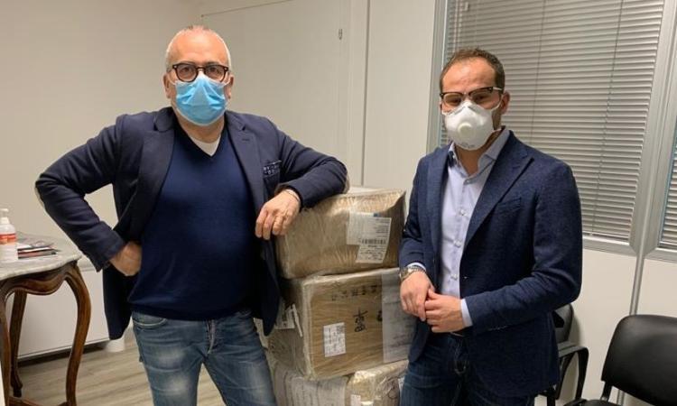Pollenza, un carico di mascherine, tute e guanti per l'Area Vasta 3: la generosità di Alessio Ferri