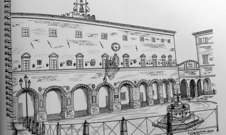 I Borghi più belli delle Marche nelle opere dell'artista treiese Gianni Compagnoni
