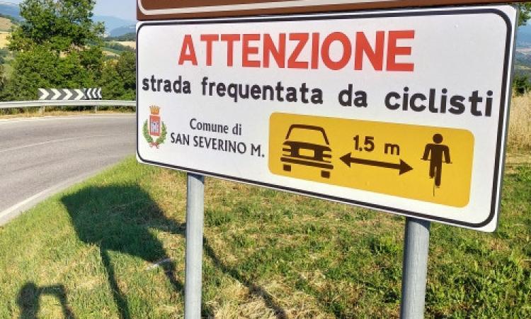 San Severino, città amica dei ciclisti: più attenzione sulle strade