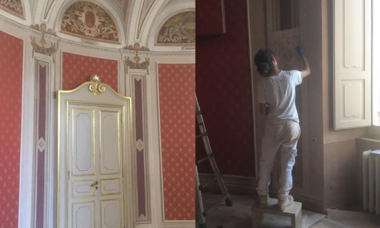 Macerata, ricostruzione post-sisma: in Provincia torna a splendere la sala della presidenza
