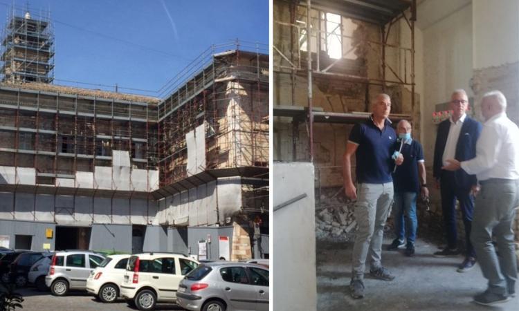Civtanova, interventi di recupero del Palazzo Ducale nella Città Alta: sopralluogo di Ciarapica