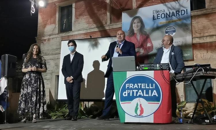 """Regionali, Guido Crosetto incorona Leonardi e Acquaroli: """"la vittoria passa dal gioco di squadra"""" (VIDEO e FOTO)"""