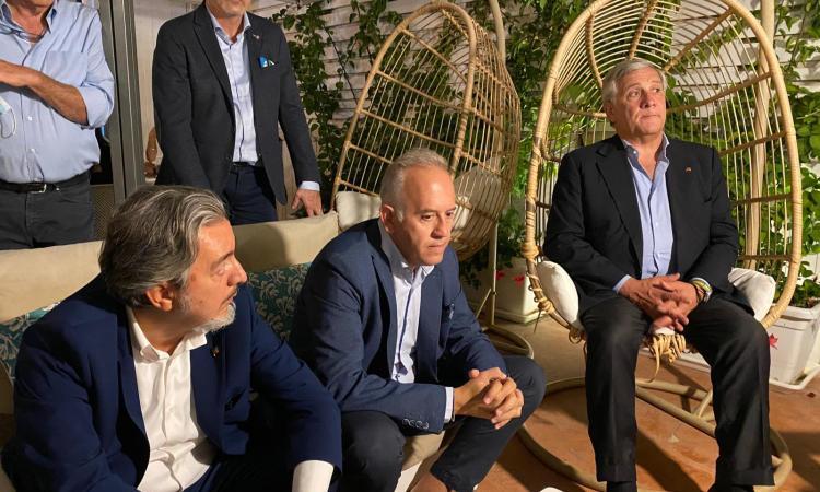 Civitanova, Ciarapica a cena con Tajani: arriva anche la telefonata di Silvio Berlusconi
