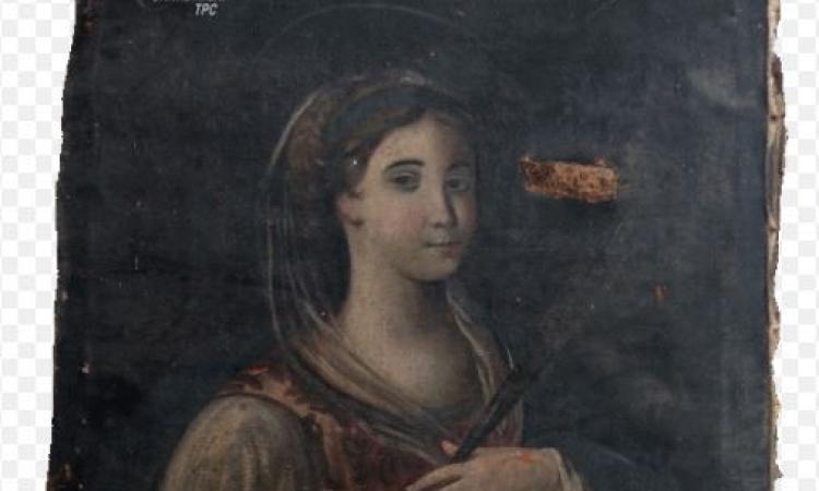 I carabinieri riportano a casa il dipinto di Santa Lucia da Venarotta: era stato trafugato oltre 60 anni fa
