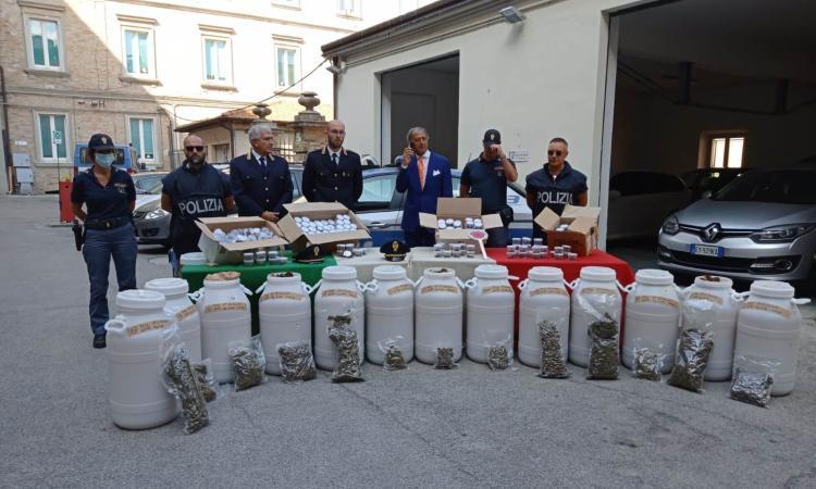"""Cingoli, maxi operazione antidroga: oltre 100 kg sequestrati.""""Destinati allo spaccio nelle scuole"""""""