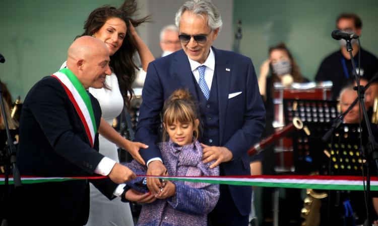 Andrea Bocelli dona a Camerino la nuova Accademia della Musica (FOTO e VIDEO)