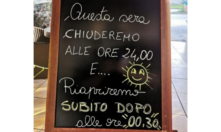 """Corridonia, il bar """"It's Fantasy Cafè"""" chiude a mezzanotte e riapre 30 minuti dopo"""