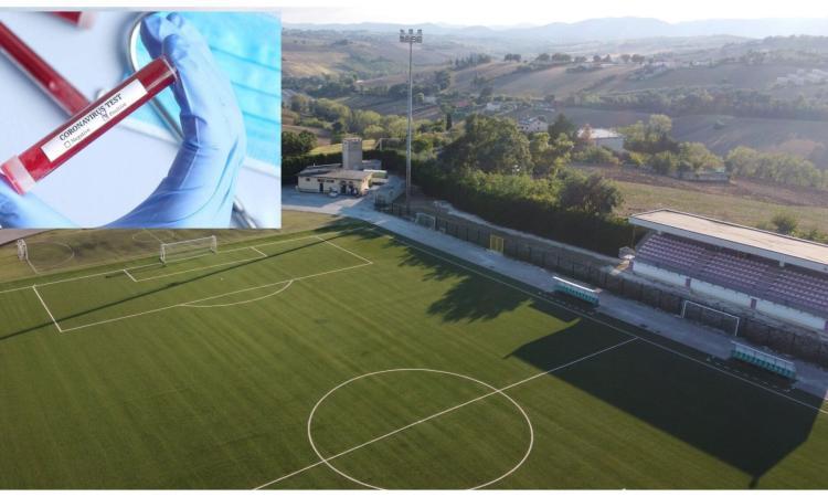Covid-19, positivi due calciatori del Montefano: rinviata anche la sfida di Coppa Italia