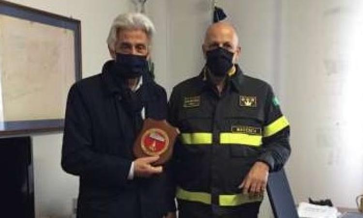 Macerata, Parcaroli in visita alla sede del Comando dei Vigili del Fuoco