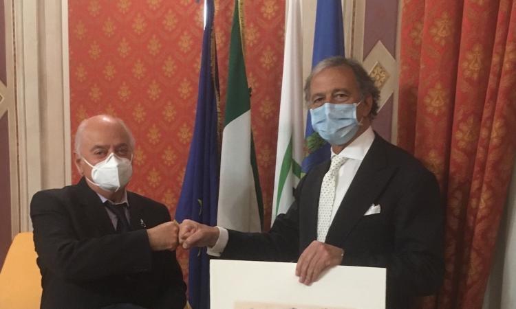 """Macerata, il presidente Pettinari saluta il questore Pignataro: """"Operato straordinario"""""""