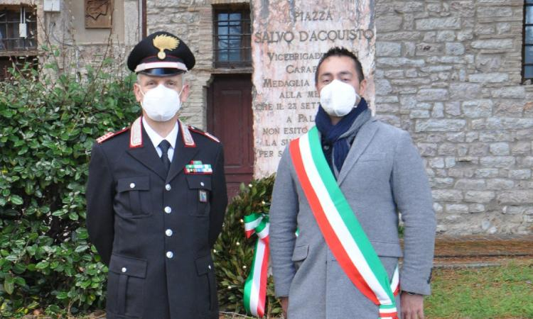 Pieve Torina saluta il comandante dei carabinieri: i ringraziamenti del sindaco