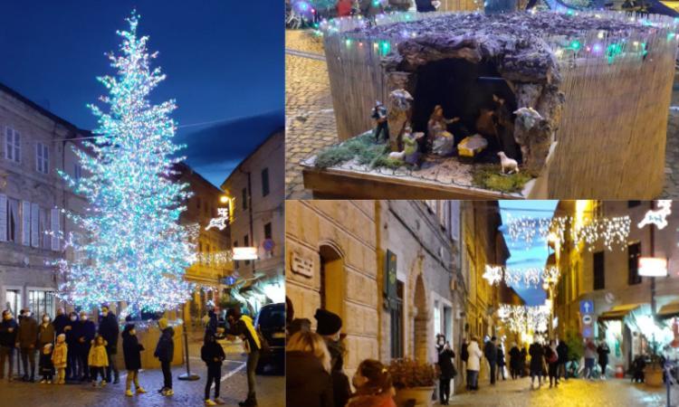A Montefano si 'accende' il Natale: in piazza un albero di oltre 10 metri