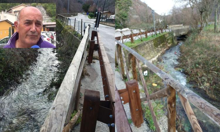 Monte Cavallo, rischio idraulico al fosso di Valle della Madonna: un ponte per proteggere l'abitato