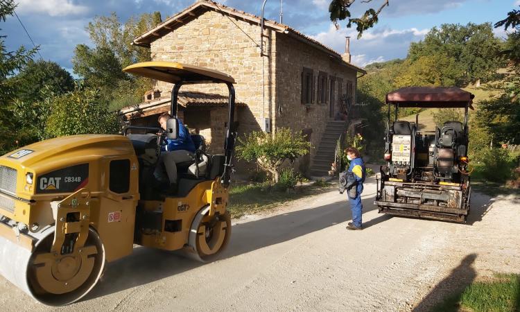 Camerino, riaperta la strada San Paolo-Le Calvie: 150 mila euro di intervento